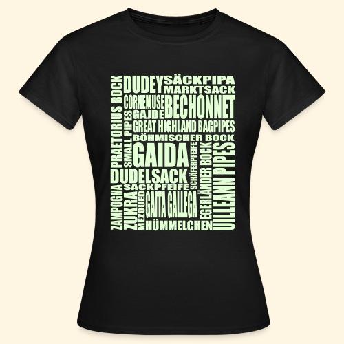 Frauen Girlie - Sackpfeifen Wortsalat - nachtleuchtend - Frauen T-Shirt
