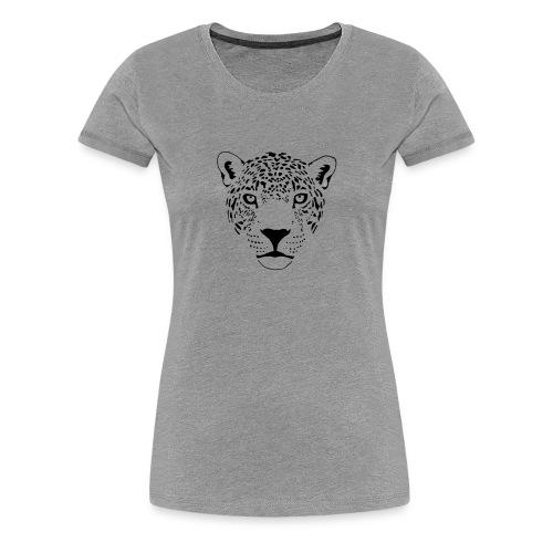 tier t-shirt jaguar puma katze gepard leopard tiger löwe raubkatze luchs wild panther - Frauen Premium T-Shirt