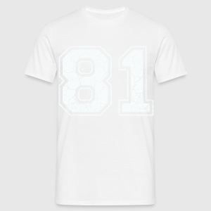 81 in weiß im Used Look T-Shirts - Männer T-Shirt