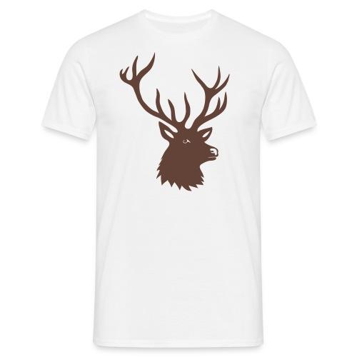 tiershirt t-shirt hirsch röhrender brunft geweih elch stag antler jäger junggesellenabschied förster jagd - Männer T-Shirt