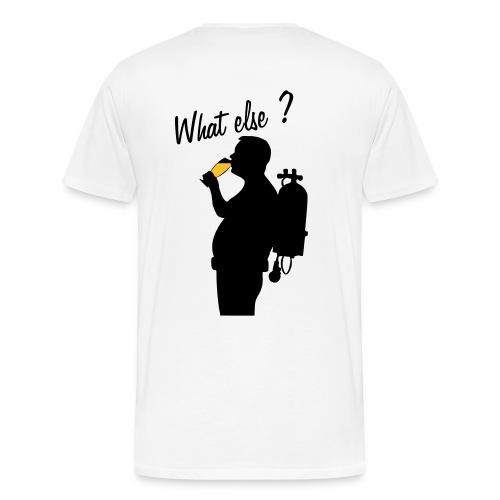 Maxi What Else? Dos -3à5XL- Imp.Flex+Logo poitrine - T-shirt Premium Homme