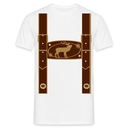 Lederhose - Männer T-Shirt