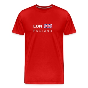 Classic T-Shirt LON ENGLAND BF white-lettered - Men's Premium T-Shirt