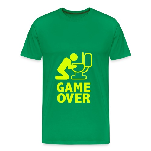 GAME OVER - Neongelb - Männer Premium T-Shirt