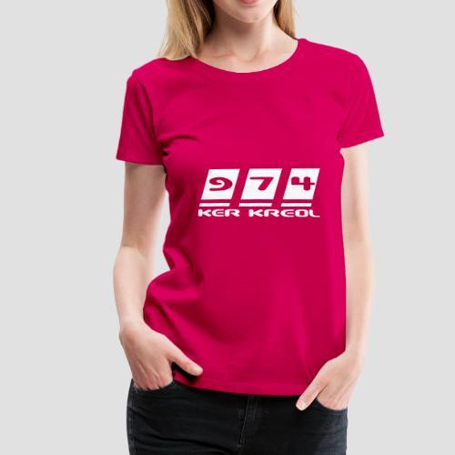 Tee shirt Premium Femme 974 ker kreol - T-shirt Premium Femme