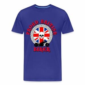 Skull - Proud British Biker - Men's Premium T-Shirt