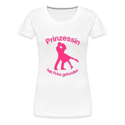 Prinzessin hat Prinz gefunden - Neonpink - Frauen Premium T-Shirt