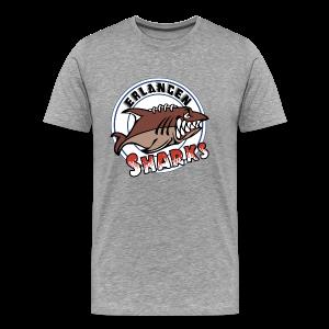 Logo auf grauem T-Shirt (m) - Männer Premium T-Shirt