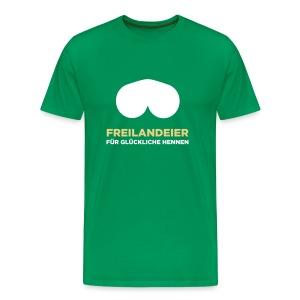 Freilandeier für glückliche Hennen - Männer Premium T-Shirt