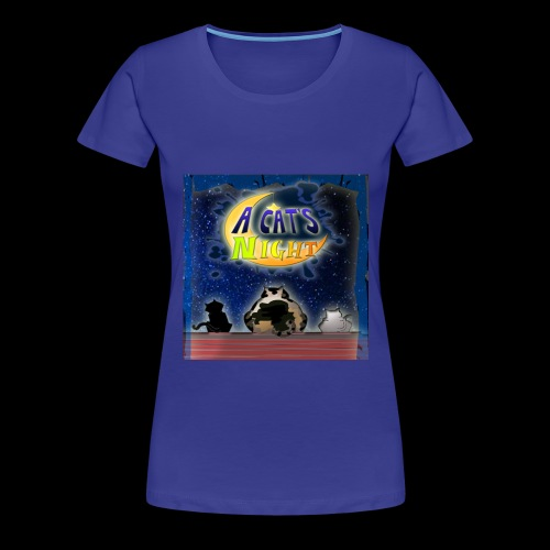 Cat's Night Front Girl - Maglietta Premium da donna