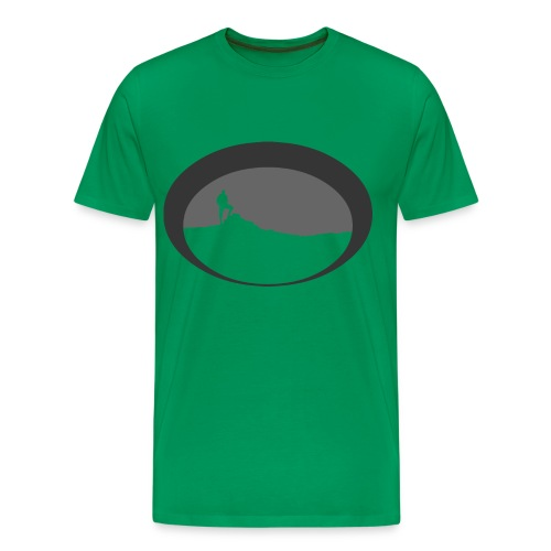 Hiker silhouette - Men's Premium T-Shirt