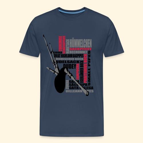 Männer Übergrößenshirt - Dudelsack - Männer Premium T-Shirt