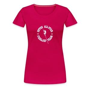 Dutch All-Star Fierljep Team (dames) - Vrouwen Premium T-shirt
