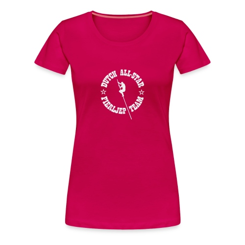 Dutch All-Star Fierljep Team (dames) - Vrouwen Premium T-shirt