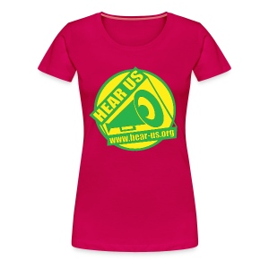 Green & Yellow Hear Us Logo - Women's Premium T-Shirt