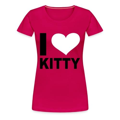 love kitty - T-shirt Premium Femme