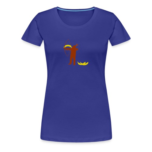 Ze schieten met bananen (dames) - Vrouwen Premium T-shirt