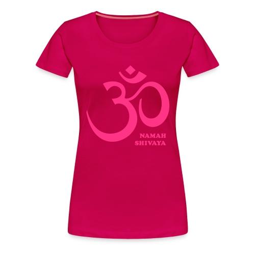 Erklärender Text in der Beschreibung zum Mantra: OM Namah Shivaya. T-Shirts für Frauen, Damen T-Shirt. - Frauen Premium T-Shirt