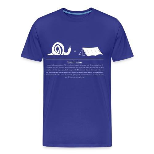 Snail vs Tent - Men's Premium T-Shirt