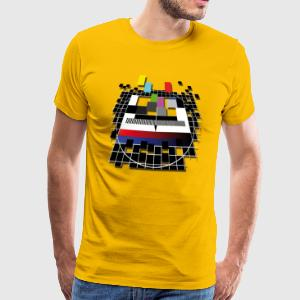 TV Test screen from the 80s T-Shirts - Men's Premium T-Shirt