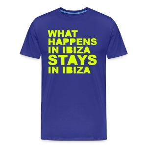 what happens in ibiza stays in ibiza - Men's Premium T-Shirt