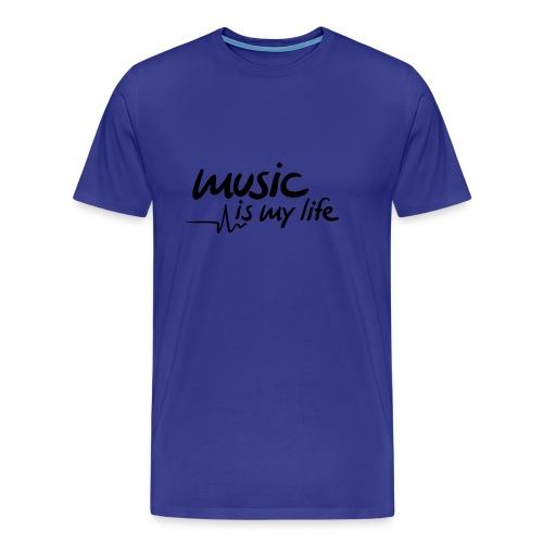 Music is my life - Premium T-skjorte for menn