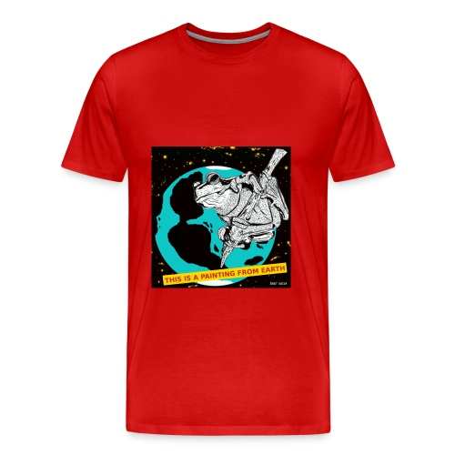 ruim t-shirt voor mannen met kikker - Mannen Premium T-shirt