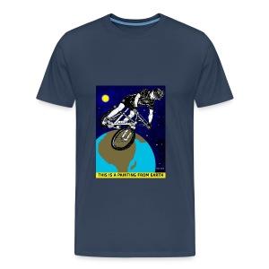 mannen t-shirt met mountainbiker - Mannen Premium T-shirt