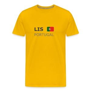Classic T-Shirt LIS PORTUGAL dark-lettered - Men's Premium T-Shirt