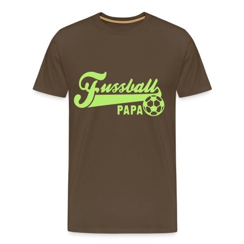 Fußball - Papa - Männer Premium T-Shirt