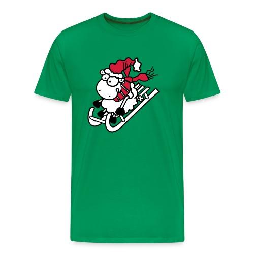 Winter Rodel Schäfchen - Männer T-Shirt - Männer Premium T-Shirt