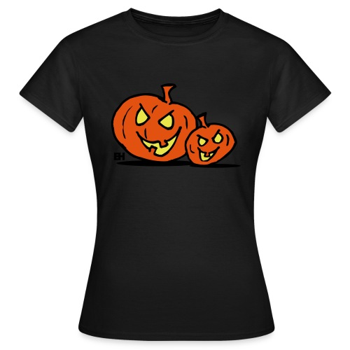 Jack-o'-lantern, two Halloween pumpkins - Women's T-Shirt
