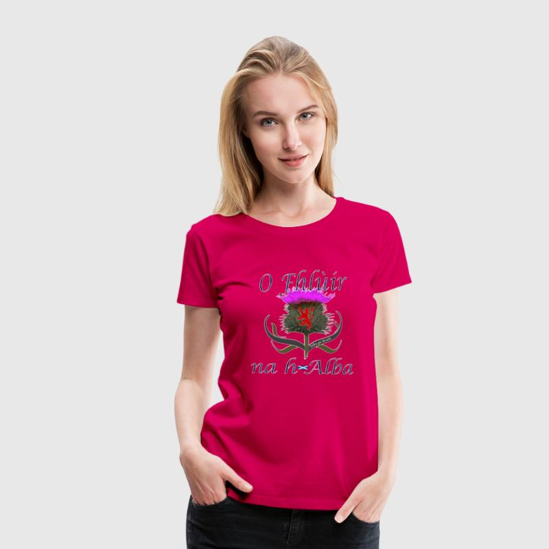 Flower of Scotland Women's Premium Thistle - Women's Premium T-Shirt