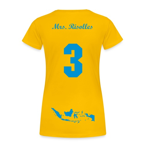 Ik wil Ricky Risolles Yellow Blue - Vrouwen Premium T-shirt