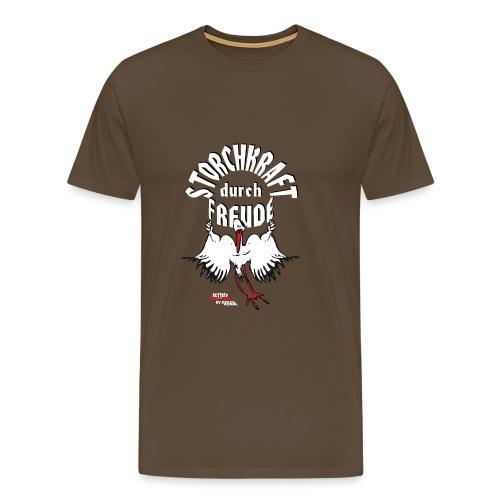 Storchkraft durch Freude - Männer Premium T-Shirt