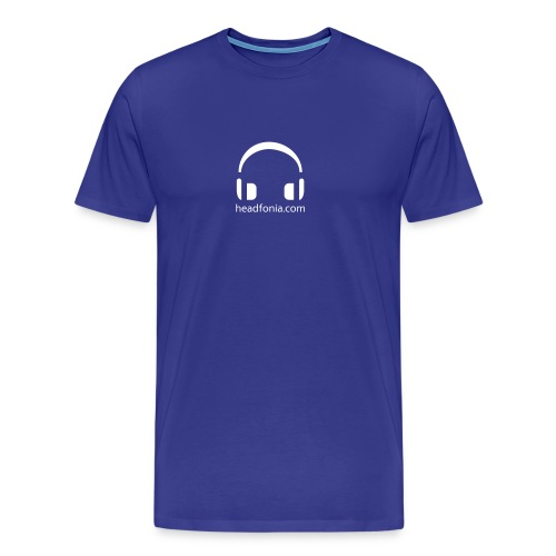 Headfonia with stylised headphones - Men's Premium T-Shirt