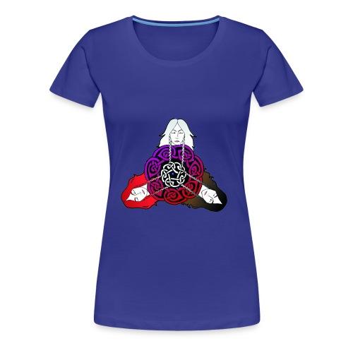 Girlieshirt Nornenknoten - Frauen Premium T-Shirt