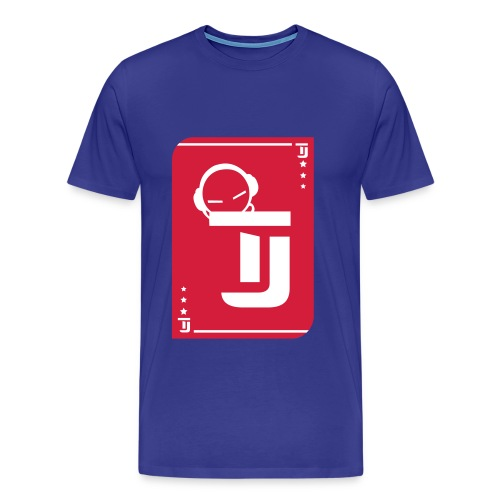 Männer Premium T-Shirt - T-Jirt in Royalblau Druck: Rot/Weiß - Flexdruck