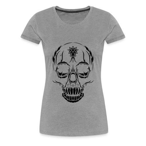 Women's Halloween Skull T-Shirt - Women's Premium T-Shirt
