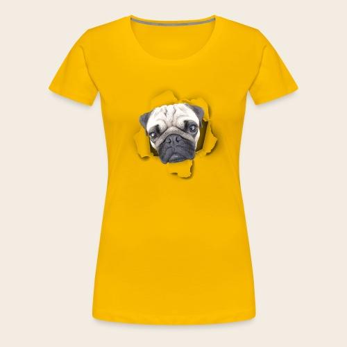 Mops Durchblick Girlie Shirt - Frauen Premium T-Shirt