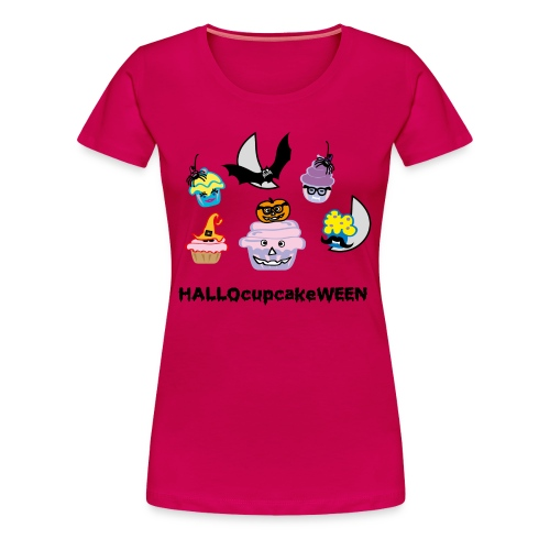 HALLOcupcakeWEEN - Frauen Premium T-Shirt