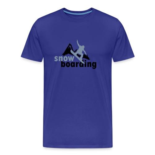 Mountians - Snowboarding t-shirt - Men's Premium T-Shirt