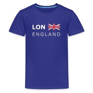 Teenager T-shirt LON ENGLAND BF white-lettered - Teenage Premium T-Shirt
