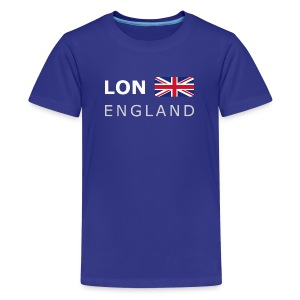 Teenager T-shirt LON ENGLAND BF white-lettered - Teenage Premium T-Shirt