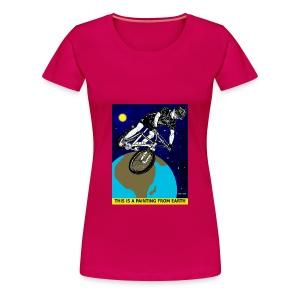 vrouwen t-shirt mouintainbiker - Vrouwen Premium T-shirt
