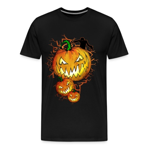 Splatterific Zombie Wear - Zombie Kürbis - Halloween Edition - Männer Premium T-Shirt