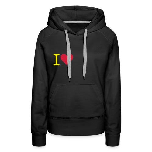 i love hugz - Vrouwen Premium hoodie