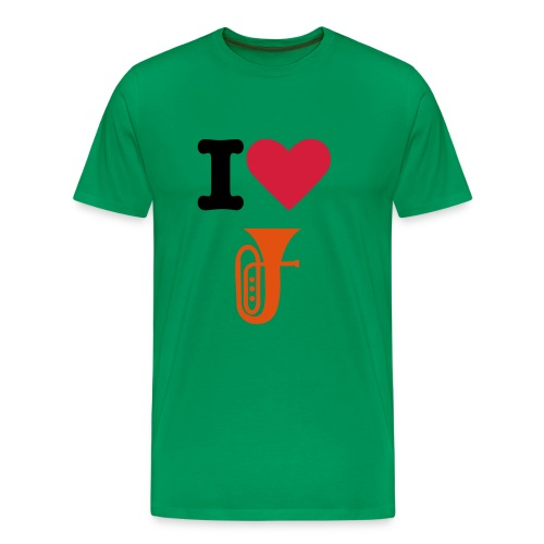 Adults I Love/Heart Tuba T-shirt - Men's Premium T-Shirt