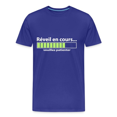 humour geek Réveil en cours - T-shirt Premium Homme