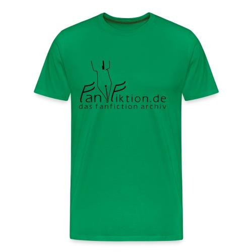 Motiv: Fanfiktion.de | Druck: schwarz | verschiedene Farben - Männer Premium T-Shirt